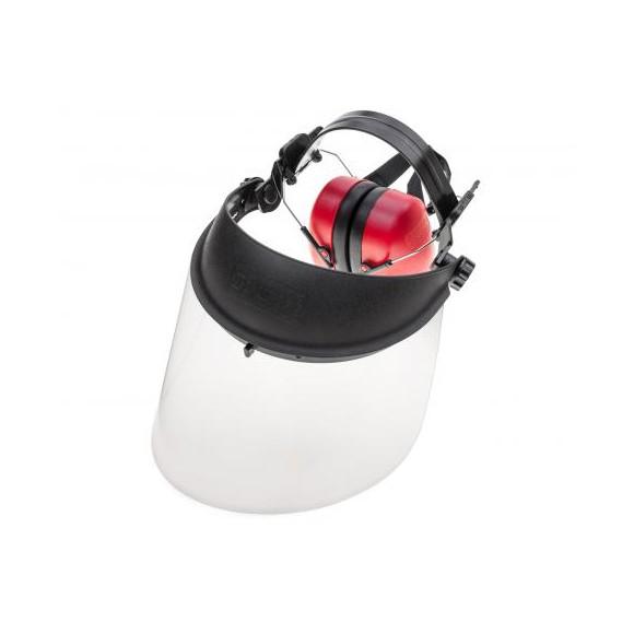 Osłona twarzy pleksi z ochronnikiem słuchu