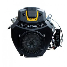 Silnik Rato R670 wał poziomy walcowy