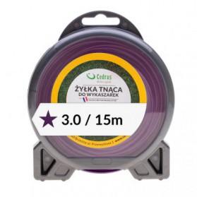 Żyłka tnąca 3.0/15m bl.gwiazdka fiolet