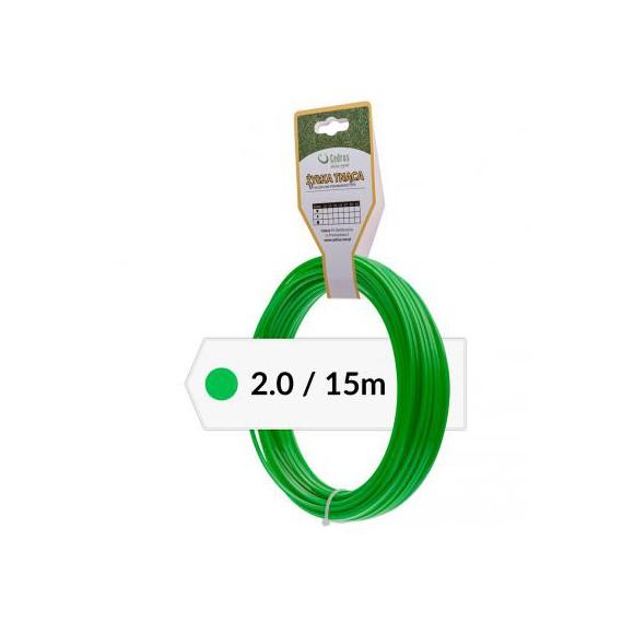 Żyłka tnąca 2.0/15m k okrągła zielona