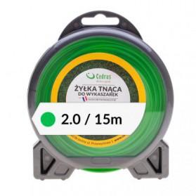Żyłka tnąca 2.0/15m bl.okrągła zielona