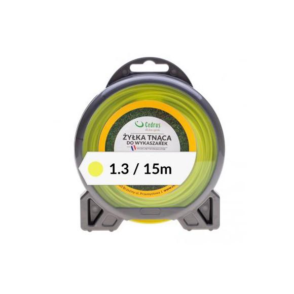 Żyłka tnąca 1.3/15m bl okrągła żółta